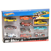 Hot Wheels 10 Car Pack. For The Age Group Of 3 Years And Above.