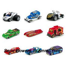 Hot Wheels Assortment Of 10 Cars. It Includes The Coolest Vechicle With Unifying Themes In One Package. For The Age Group of 3 Years And Above.