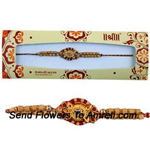 This Is A Gorgeous Rakhi That You Can Choose For Your Brother (  Please Note That In Case Of Non-Availability Of A Certain Product We Will Substitute The Same With A Suitable Product Of Equal Or Higher Value As Per Prices On The Website. The Products Under This Category Needs To Be Accompanied With The Other Products.)