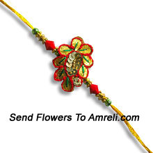 Make Your Brother Feel Special On This Occasion With This Elegant Rakhi ( Please Note That In Case Of Non-Availability Of A Certain Product We Will Substitute The Same With A Suitable Product Of Equal Or Higher Value As Per Prices On The Website. The Products Under This Category Needs To Be Accompanied With The Other Products.)
