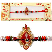 Cherish The Ties Of Love With This Unique Rakhi ( Please Note That In Case Of Non-Availability Of A Certain Product We Will Substitute The Same With A Suitable Product Of Equal Or Higher Value As Per Prices On The Website. The Products Under This Category Needs To Be Accompanied With The Other Products.)