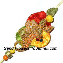 This Is An Amazing Crafted Rakhi For Your Brother ( Please Note That In Case Of Non-Availability Of A Certain Product We Will Substitute The Same With A Suitable Product Of Equal Or Higher Value As Per Prices On The Website. The Products Under This Category Needs To Be Accompanied With The Other Products.)