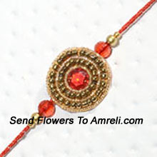Make This Festival Filled With Joy By Sending This Traditional Rakhi ( Please Note That In Case Of Non-Availability Of A Certain Product We Will Substitute The Same With A Suitable Product Of Equal Or Higher Value As Per Prices On The Website. The Products Under This Category Needs To Be Accompanied With The Other Products.)