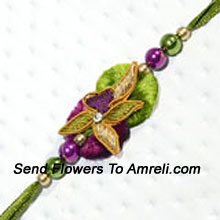 A Charming Eye-Catching Rakhi For Your Brother ( Please Note That In Case Of Non-Availability Of A Certain Product We Will Substitute The Same With A Suitable Product Of Equal Or Higher Value As Per Prices On The Website. The Products Under This Category Needs To Be Accompanied With The Other Products.)