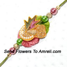 A Cute Rakhi To Win Your Brother's Heart ( Please Note That In Case Of Non-Availability Of A Certain Product We Will Substitute The Same With A Suitable Product Of Equal Or Higher Value As Per Prices On The Website. The Products Under This Category Needs To Be Accompanied With The Other Products.)