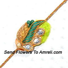 Delight Your Brother By Sending This Beautiful Rakhi Designed In A Fantastic Pattern ( Please Note That In Case Of Non-Availability Of A Certain Product We Will Substitute The Same With A Suitable Product Of Equal Or Higher Value As Per Prices On The Website. The Products Under This Category Needs To Be Accompanied With The Other Products.)