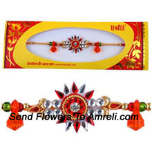 Delight Your Brother By Sending Him This Attractive Rakhi ( Please Note That In Case Of Non-Availability Of A Certain Product We Will Substitute The Same With A Suitable Product Of Equal Or Higher Value As Per Prices On The Website. The Products Under This Category Needs To Be Accompanied With The Other Products.)