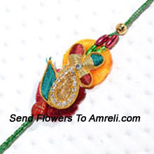 Delight Your Brother By Sending This Designer Rakhi And Strengthen Your Bond On This Special Occasion ( Please Note That In Case Of Non-Availability Of A Certain Product We Will Substitute The Same With A Suitable Product Of Equal Or Higher Value As Per Prices On The Website. The Products Under This Category Needs To Be Accompanied With The Other Products.)