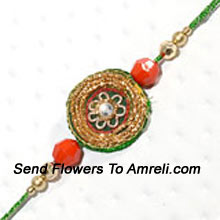 A Trendy Rakhi For Your Brother ( Please Note That In Case Of Non-Availability Of A Certain Product We Will Substitute The Same With A Suitable Product Of Equal Or Higher Value As Per Prices On The Website. The Products Under This Category Needs To Be Accompanied With The Other Products.)