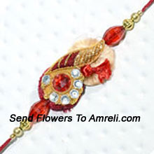 Make This Festival Really Memorable By Sending This Designer Rakhi ( Please Note That In Case Of Non-Availability Of A Certain Product We Will Substitute The Same With A Suitable Product Of Equal Or Higher Value As Per Prices On The Website. The Products Under This Category Needs To Be Accompanied With The Other Products.)