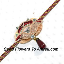 Increase The Charm Of Rakhi By Sending This Incredible Rakhi ( Please Note That In Case Of Non-Availability Of A Certain Product We Will Substitute The Same With A Suitable Product Of Equal Or Higher Value As Per Prices On The Website. The Products Under This Category Needs To Be Accompanied With The Other Products.)