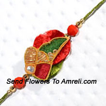 productA Vibrant Rakhi To Charm Your Dear Brother ( Please Note That In Case Of Non-Availability Of A Certain Product We Will Substitute The Same With A Suitable Product Of Equal Or Higher Value As Per Prices On The Website. The Products Under This Category Needs To Be Accompanied With The Other Products.)