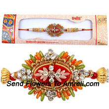 productA Trendy Rakhi For Your Brother ( Please Note That In Case Of Non-Availability Of A Certain Product We Will Substitute The Same With A Suitable Product Of Equal Or Higher Value As Per Prices On The Website. The Products Under This Category Needs To Be Accompanied With The Other Products.)