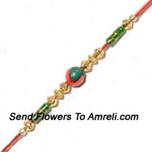 productSend This Rakhi To Your Brother And Add Endless Grace To His Wrist ( Please Note That In Case Of Non-Availability Of A Certain Product We Will Substitute The Same With A Suitable Product Of Equal Or Higher Value As Per Prices On The Website. The Products Under This Category Needs To Be Accompanied With The Other Products.)
