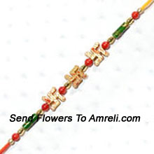 productShower The Blessings Of God On Your Brother By Sending This Beautiful Rakhi ( Please Note That In Case Of Non-Availability Of A Certain Product We Will Substitute The Same With A Suitable Product Of Equal Or Higher Value As Per Prices On The Website. The Products Under This Category Needs To Be Accompanied With The Other Products.)