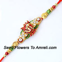 productShower Your Blessings On This Raksha Bandhan With This Elegant Rakhi ( Please Note That In Case Of Non-Availability Of A Certain Product We Will Substitute The Same With A Suitable Product Of Equal Or Higher Value As Per Prices On The Website. The Products Under This Category Needs To Be Accompanied With The Other Products.)