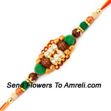 productThis Is An Amazing Crafted Rakhi For Your Brother ( Please Note That In Case Of Non-Availability Of A Certain Product We Will Substitute The Same With A Suitable Product Of Equal Or Higher Value As Per Prices On The Website. The Products Under This Category Needs To Be Accompanied With The Other Products.)
