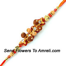 productDelight Your Brother By Sending This Beautiful Rakhi Designed In A Fantastic Pattern ( Please Note That In Case Of Non-Availability Of A Certain Product We Will Substitute The Same With A Suitable Product Of Equal Or Higher Value As Per Prices On The Website. The Products Under This Category Needs To Be Accompanied With The Other Products.)