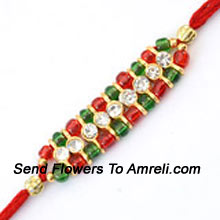 productDelight Your Brother By Sending This Designer Rakhi And Strengthen Your Bond On This Special Occasion ( Please Note That In Case Of Non-Availability Of A Certain Product We Will Substitute The Same With A Suitable Product Of Equal Or Higher Value As Per Prices On The Website. The Products Under This Category Needs To Be Accompanied With The Other Products.)