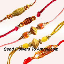 productA Set Of 5 Different Rakhis ( Please Note That In Case Of Non-Availability Of A Certain Product We Will Substitute The Same With A Suitable Product Of Equal Or Higher Value As Per Prices On The Website. The Products Under This Category Needs To Be Accompanied With The Other Products.)