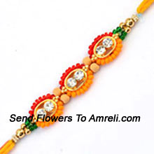 productA Charming Rakhi To Make This Occasion A Bit More Special ( Please Note That In Case Of Non-Availability Of A Certain Product We Will Substitute The Same With A Suitable Product Of Equal Or Higher Value As Per Prices On The Website. The Products Under This Category Needs To Be Accompanied With The Other Products.)
