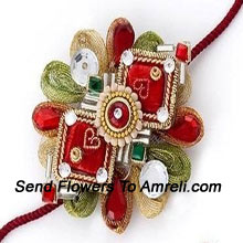 productSimply Exclusive! An Attractive Designer Rakhi To Make Your Brother Feel Special ( Please Note That In Case Of Non-Availability Of A Certain Product We Will Substitute The Same With A Suitable Product Of Equal Or Higher Value As Per Prices On The Website. The Products Under This Category Needs To Be Accompanied With The Other Products.)