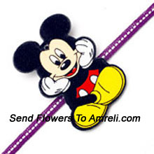 A Mickey Mouse Rakhi For Your Dear Brother ( Please Note That In Case Of Non-Availability Of A Certain Product We Will Substitute The Same With A Suitable Product Of Equal Or Higher Value As Per Prices On The Website. The Products Under This Category Needs To Be Accompanied With The Other Products.)