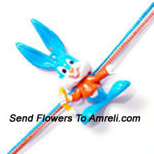 Bunny Rakhi For Your Loving Little Brother ( Please Note That In Case Of Non-Availability Of A Certain Product We Will Substitute The Same With A Suitable Product Of Equal Or Higher Value As Per Prices On The Website. The Products Under This Category Needs To Be Accompanied With The Other Products.)