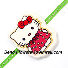 A Hello Kitty Rakhi For Your Little Brother ( Please Note That In Case Of Non-Availability Of A Certain Product We Will Substitute The Same With A Suitable Product Of Equal Or Higher Value As Per Prices On The Website. The Products Under This Category Needs To Be Accompanied With The Other Products.)