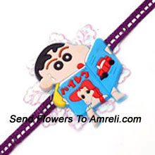 Shin Chan Is Known To Be The Most Naughtiest Kid. Send This Rakhi For Your Naughty Little Brother ( Please Note That In Case Of Non-Availability Of A Certain Product We Will Substitute The Same With A Suitable Product Of Equal Or Higher Value As Per Prices On The Website. The Products Under This Category Needs To Be Accompanied With The Other Products.)