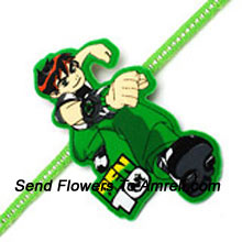 Send This Ben 10 Rakhi To Your Brother ( Please Note That In Case Of Non-Availability Of A Certain Product We Will Substitute The Same With A Suitable Product Of Equal Or Higher Value As Per Prices On The Website. The Products Under This Category Needs To Be Accompanied With The Other Products.)