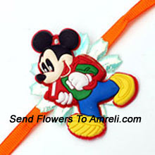 Send This Mickey Mouse Rakhi To Your Loving Brother ( Please Note That In Case Of Non-Availability Of A Certain Product We Will Substitute The Same With A Suitable Product Of Equal Or Higher Value As Per Prices On The Website. The Products Under This Category Needs To Be Accompanied With The Other Products.)