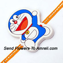 Send This Doraemon Rakhi To Your Brother And Make Him Happy ( Please Note That In Case Of Non-Availability Of A Certain Product We Will Substitute The Same With A Suitable Product Of Equal Or Higher Value As Per Prices On The Website. The Products Under This Category Needs To Be Accompanied With The Other Products.)