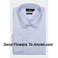 """productBlackberrys-Mens Full Sleeves Formal Shirt. Established In 1991. Blackberrys Is One Of The Leading Formal Wear Brands In India.. (You Can Mention Size Required In The """"Special Request To Florist"""" Column Which Will Appear During The Shopping Process Otherwise Standard Size Shirt """"40"""" Will Be Delivered.)"""