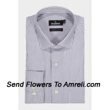 """productBlackberrys-Mens Full Sleeves Formal Stripes Shirt. Established In 1991. Blackberrys Is One Of The Leading Formal Wear Brands In India.. (You Can Mention Size Required In The """"Special Request To Florist"""" Column Which Will Appear During The Shopping Process Otherwise Standard Size Shirt """"40"""" Will Be Delivered.)"""