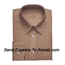 """productLouis Philippe-Mens Full Sleeves Formal Stripes Shirt. Louis Philippe Symbolizes Elegance, Class And Status For A Man. Wherever You Are, Whatever You Do, You Embody The Prefection You So Admire. (You Can Mention Size Required In The """"Special Request To Florist"""" Column Which Will Appear During The Shopping Process Otherwise Standard Size Shirt """"40"""" Will Be Delivered.)"""