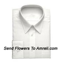 """productLouis Philippe-Mens Full Sleeves Formal Shirt. Louis Philippe Symbolizes Elegance, Class And Status For A Man. Wherever You Are, Whatever You Do, You Embody The Prefection You So Admire. (You Can Mention Size Required In The """"Special Request To Florist"""" Column Which Will Appear During The Shopping Process Otherwise Standard Size Shirt """"40"""" Will Be Delivered.)"""