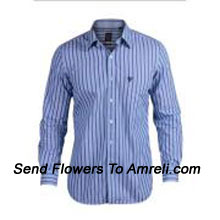 Stripes Pattern Allen Solly-Mens Full Sleeves Cotton Shirt With An Allen Solly Logo On The Chest. This Brand Was Launched In India In 1993. Today It Is One Of The Most Popular Brand In The Branded Premium Apparel Segment. (You Can Mention Size Required In The