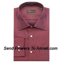 """productVan-Heusen-Mens Full Sleeves Worldwear Collection Formal Stripes Shirt. Van Heusen Is A premium Lifestyle Brand For Men. The Brand Covers All Aspects Of An Individuals Clothing Needs.. (You Can Mention Size Required In The """"Special Request To Florist"""" Column Which Will Appear During The Shopping Process Otherwise Standard Size Shirt """"40"""" Will Be Delivered.)"""