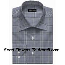 """productVan-Heusen-Mens Full Sleeves Worldwear Collection Formal Checks Shirt. Van Heusen Is A premium Lifestyle Brand For Men. The Brand Covers All Aspects Of An Individuals Clothing Needs.. (You Can Mention Size Required In The """"Special Request To Florist"""" Column Which Will Appear During The Shopping Process Otherwise Standard Size Shirt """"40"""" Will Be Delivered.)"""