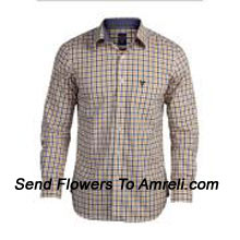 Checks Pattern Allen Solly-Mens Full Sleeves Cotton Shirt. This Brand Was Launched In India In 1993. Today It Is One Of The Most Popular Brand In The Branded Premium Apparel Segment. (You Can Mention Size Required In The