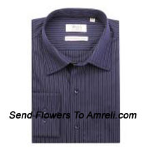 "productWills Lifestyle-Mens Full Sleeves Formal Stripes Shirt. Experience A New Language Of Charming Sophistication With This Brand. (You Can Mention Size Required In The ""Special Request To Florist"" Column Which Will Appear During The Shopping Process Otherwise Standard Size Shirt ""40"" Will Be Delivered.)"