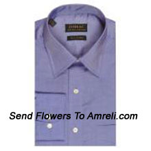"productZodiac-Mens Full Sleeves Formal Shirt. Showing The Epitome Of New Age Luxury. (You Can Mention Size Required In The ""Special Request To Florist"" Column Which Will Appear During The Shopping Process Otherwise Standard Size Shirt ""40"" Will Be Delivered.)"