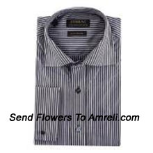 "productZodiac-Mens Full Sleeves Formal Stripes Shirt. Showing The Epitome Of New Age Luxury. (You Can Mention Size Required In The ""Special Request To Florist"" Column Which Will Appear During The Shopping Process Otherwise Standard Size Shirt ""40"" Will Be Delivered.)"