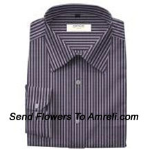 Arrow-Mens Full Sleeves Formal Yarn Dyed Stripes Shirt. This Brand Was Established In 1851. It Is Famous As The Authentic American Brand. (You Can Mention Size Required In The