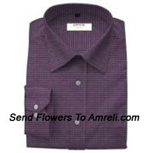 Arrow-Mens Full Sleeves Formal Checks Shirt. This Brand Was Established In 1851. All Arrow Garments Are Designed Keeping In Mind The Trends Of The International Market. (You Can Mention Size Required In The