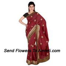 Real Beauty Comes Our From Your Dressing Style With This Red Saree