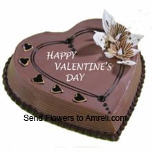 product1Kg (2.2 Lbs) Heart Shaped Chocolate Cake