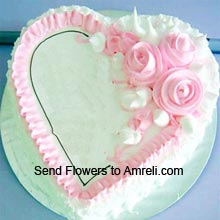 product1Kg (2.2 Lbs) Heart Shaped Vanilla Cake