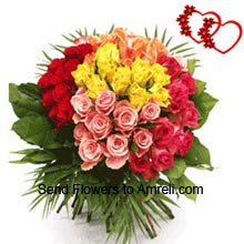 productBunch Of 36 Mixed Color Roses